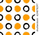 brush drawn circles seamless... | Shutterstock .eps vector #624878297