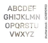 alphabet old wall texture... | Shutterstock . vector #624890903
