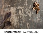Wooden Table Background With...