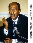 anwar sadat president of egypt... | Shutterstock . vector #624915683