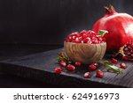 Ripe Pomegranate Fruit On A Ol...