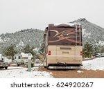 rv campsite in snow at estes... | Shutterstock . vector #624920267