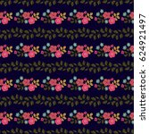 seamless folk pattern in small... | Shutterstock .eps vector #624921497