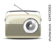 vintage radio. vector... | Shutterstock .eps vector #624923003
