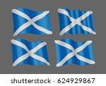 3d waving flag of scotland.... | Shutterstock .eps vector #624929867