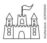 monochrome contour of... | Shutterstock .eps vector #624934043