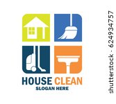 cleaning service logo with text ... | Shutterstock .eps vector #624934757