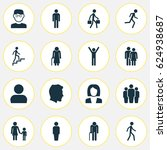 human icons set. collection of... | Shutterstock .eps vector #624938687