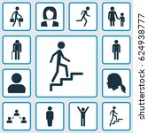 human icons set. collection of... | Shutterstock .eps vector #624938777