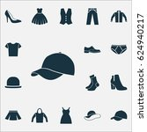 clothes icons set. collection... | Shutterstock .eps vector #624940217