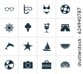 season icons set. collection of ... | Shutterstock .eps vector #624940787