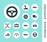 car icons set. collection of... | Shutterstock .eps vector #624941003