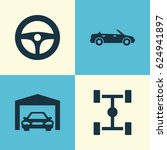 auto icons set. collection of... | Shutterstock .eps vector #624941897
