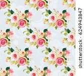 seamless floral pattern with... | Shutterstock .eps vector #624943847