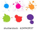 color paint splatters.paint... | Shutterstock .eps vector #624943937