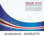 flag of cape verde  template... | Shutterstock .eps vector #624962273
