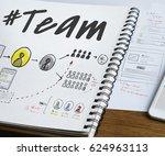 teamwork communication feedback ...   Shutterstock . vector #624963113