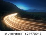 Lightstrails Of Vehicles In...