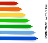 colored banners on the white...   Shutterstock .eps vector #624971153
