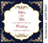 vintage invitation and wedding... | Shutterstock .eps vector #624978467