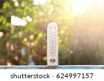 thermometer in the nature   the ... | Shutterstock . vector #624997157
