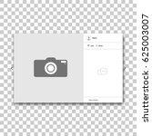social network photo frame.... | Shutterstock .eps vector #625003007
