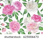 seamless floral pattern with... | Shutterstock . vector #625006673