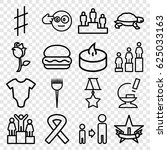 one icons set. set of 16 one... | Shutterstock .eps vector #625033163