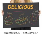 burger hotdog cola fast food... | Shutterstock . vector #625039127