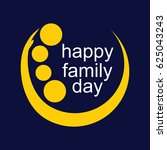 happy family day logo vector... | Shutterstock .eps vector #625043243
