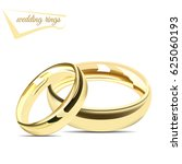 wedding rings. vector... | Shutterstock .eps vector #625060193
