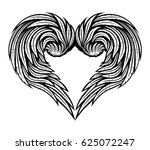 heart of wings. | Shutterstock .eps vector #625072247