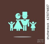 lucky family  father  mother ... | Shutterstock .eps vector #625076837