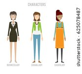 characters set   character set... | Shutterstock .eps vector #625078487