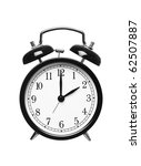 alarm clock shows two o clock... | Shutterstock . vector #62507887