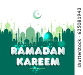 muslim abstract greeting...   Shutterstock .eps vector #625081943