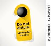 do not disturb door sign with... | Shutterstock .eps vector #625084967