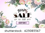 spring sale background with... | Shutterstock .eps vector #625085567