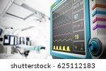 medical monitor showing vital... | Shutterstock . vector #625112183