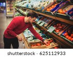 attractive man doing grocery...