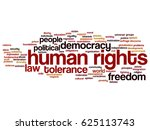 vector conceptual human rights... | Shutterstock .eps vector #625113743