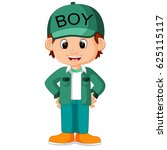 cute boy cartoon good posing | Shutterstock .eps vector #625115117