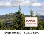 czech   poland border in... | Shutterstock . vector #625115393
