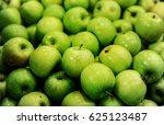 green delicious apples in...   Shutterstock . vector #625123487