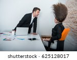 two angry businesspeople... | Shutterstock . vector #625128017