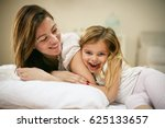 mother with her cute little... | Shutterstock . vector #625133657
