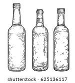 spirit glass boottle... | Shutterstock .eps vector #625136117