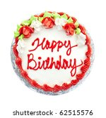 Birthday Cake With Writing Fro...