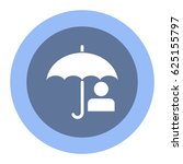 umbrella icon  flat design style | Shutterstock .eps vector #625155797