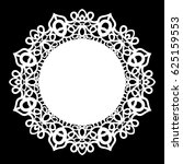 lace round paper doily  lacy... | Shutterstock .eps vector #625159553